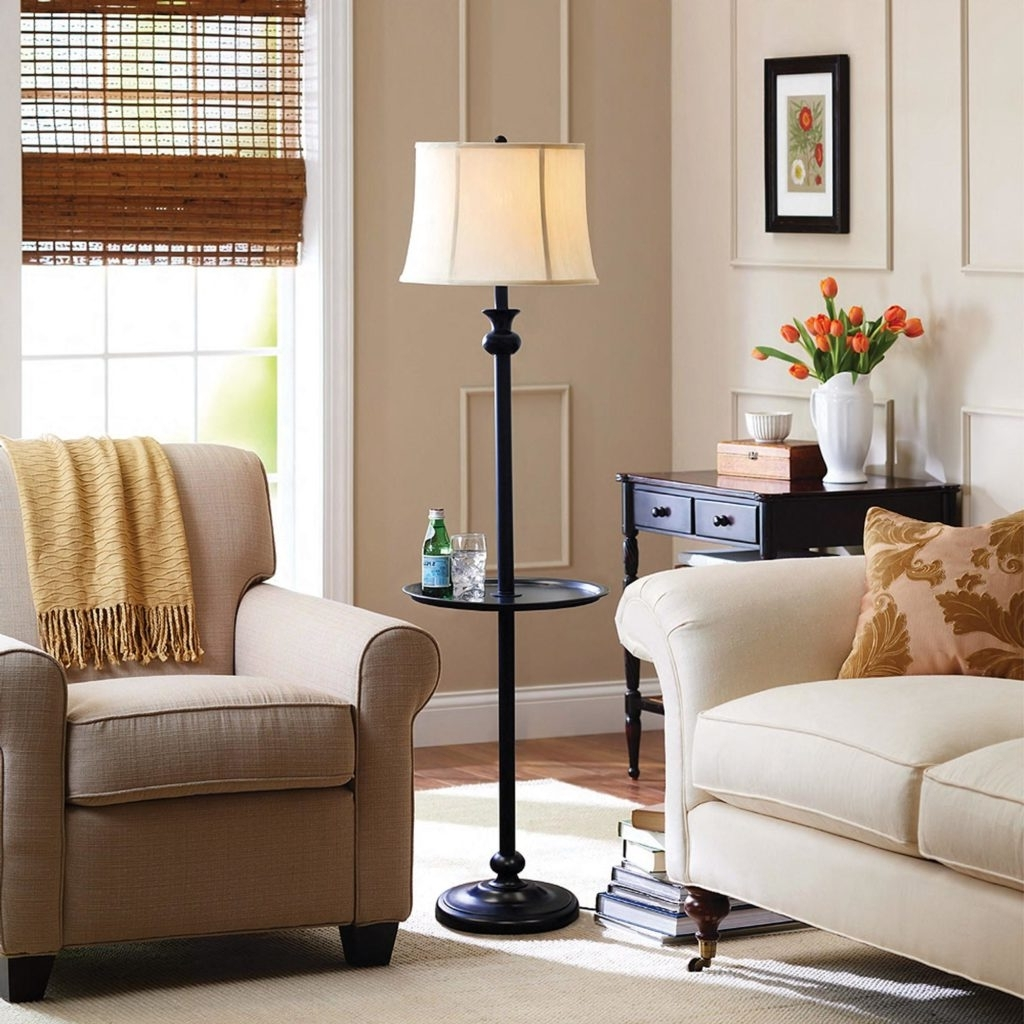 Favorite Houzz Living Room Table Lamps With Floor Lamps With Shelves Style — Eflyg Beds : Modern Floor Lamps (View 15 of 15)
