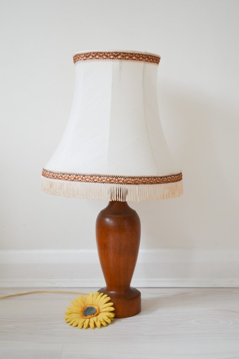 Favorite Lamp : Midentury Oak Base Lampshade Table Lamp Light Gorgeous Shade In Country Style Living Room Table Lamps (View 9 of 15)