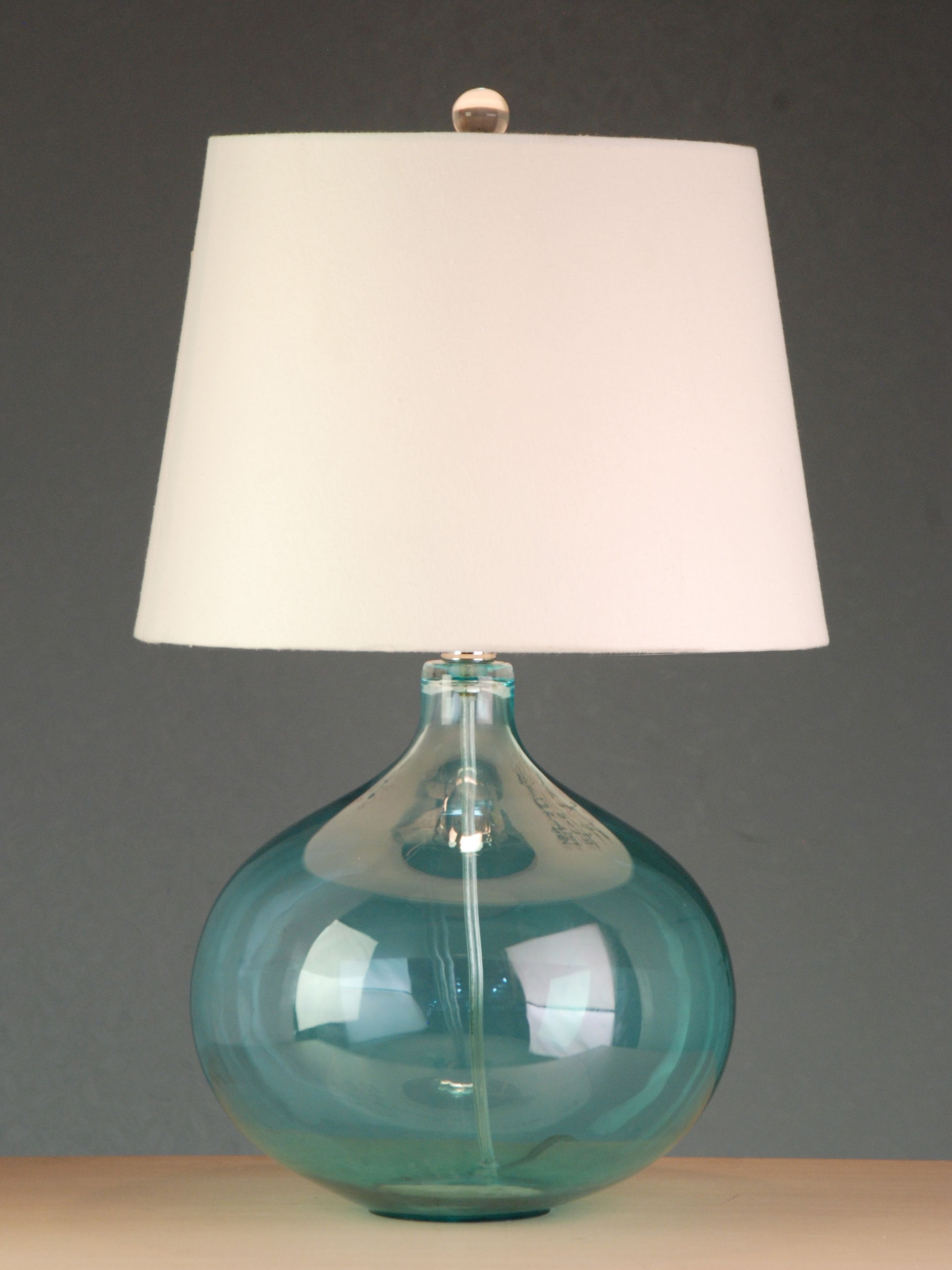 Favorite Living Room Table Lamps At Target Throughout Blue Glass Lamps At Target (View 9 of 15)