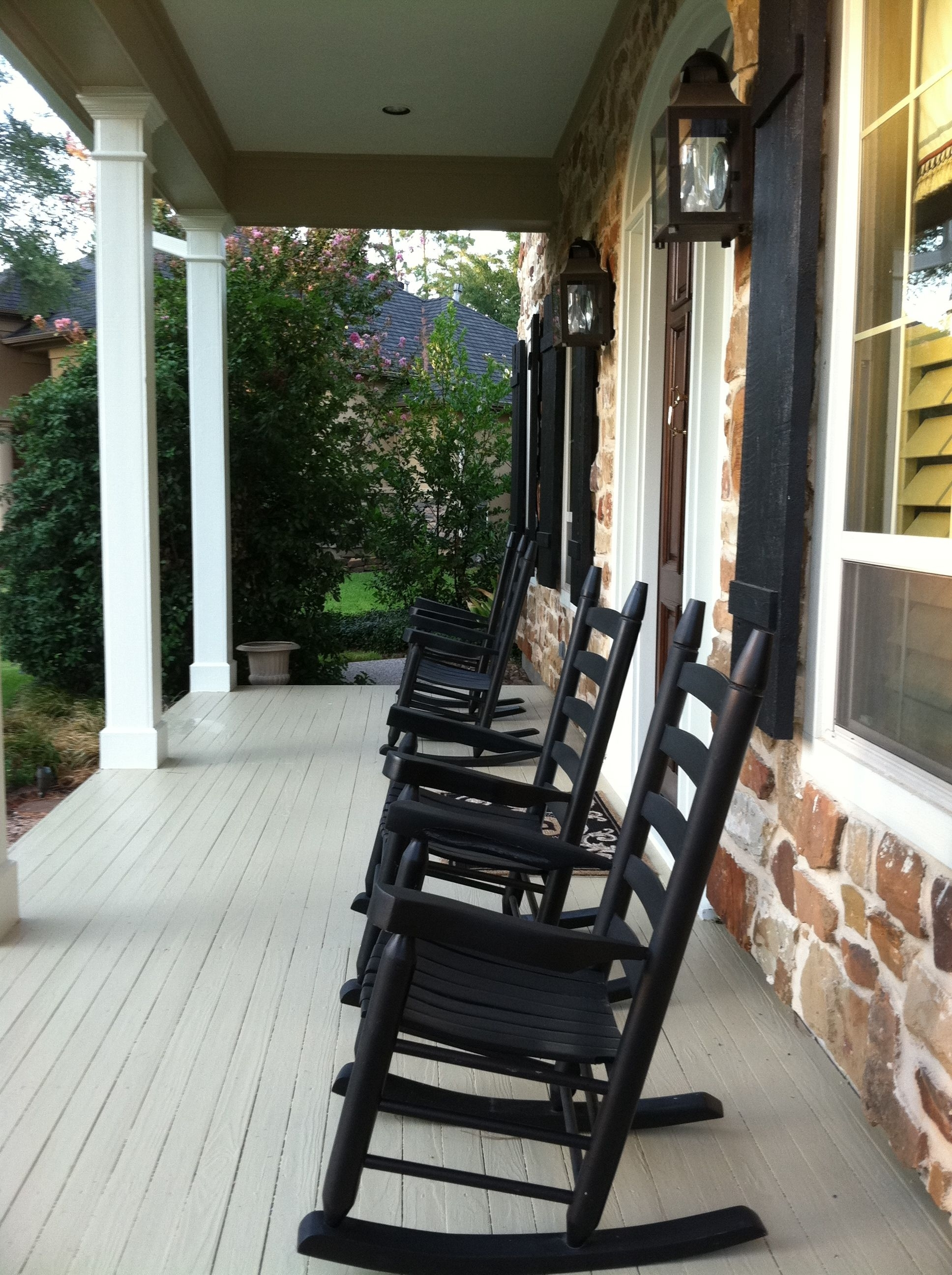 Favorite Outdoor Rocking Chairs: Outdoor Rocking Chairs Black Porch Within Rocking Chairs For Front Porch (View 10 of 15)