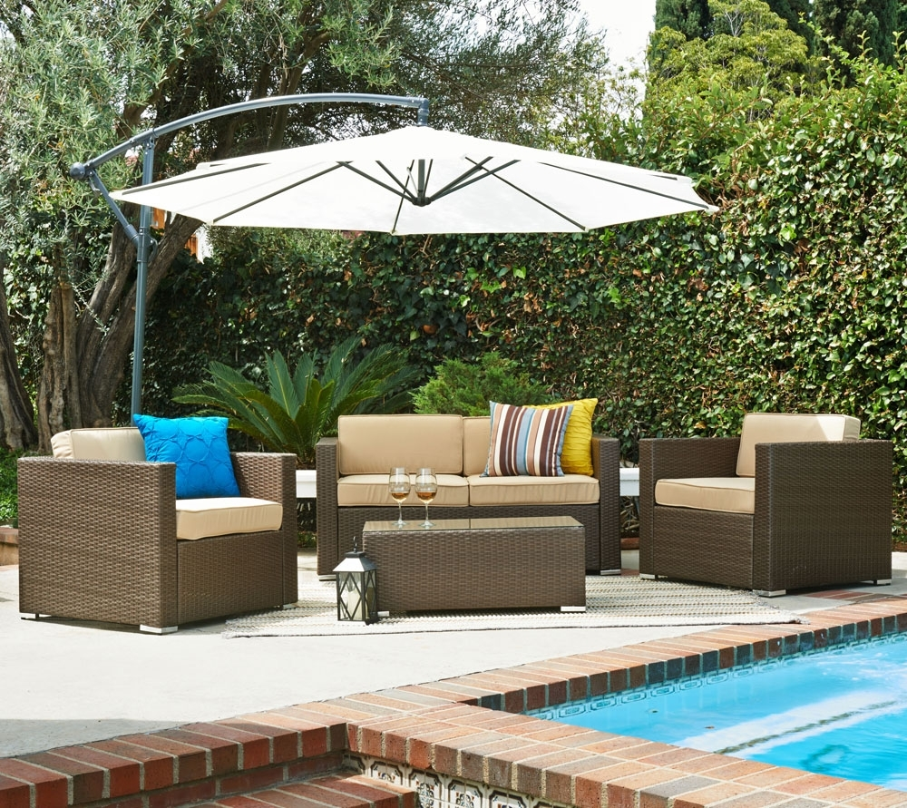 Favorite Patio Conversation Sets With Umbrella Intended For Target Patio Furniture Lowes Outdoor Furniture Patio Conversation (View 4 of 15)