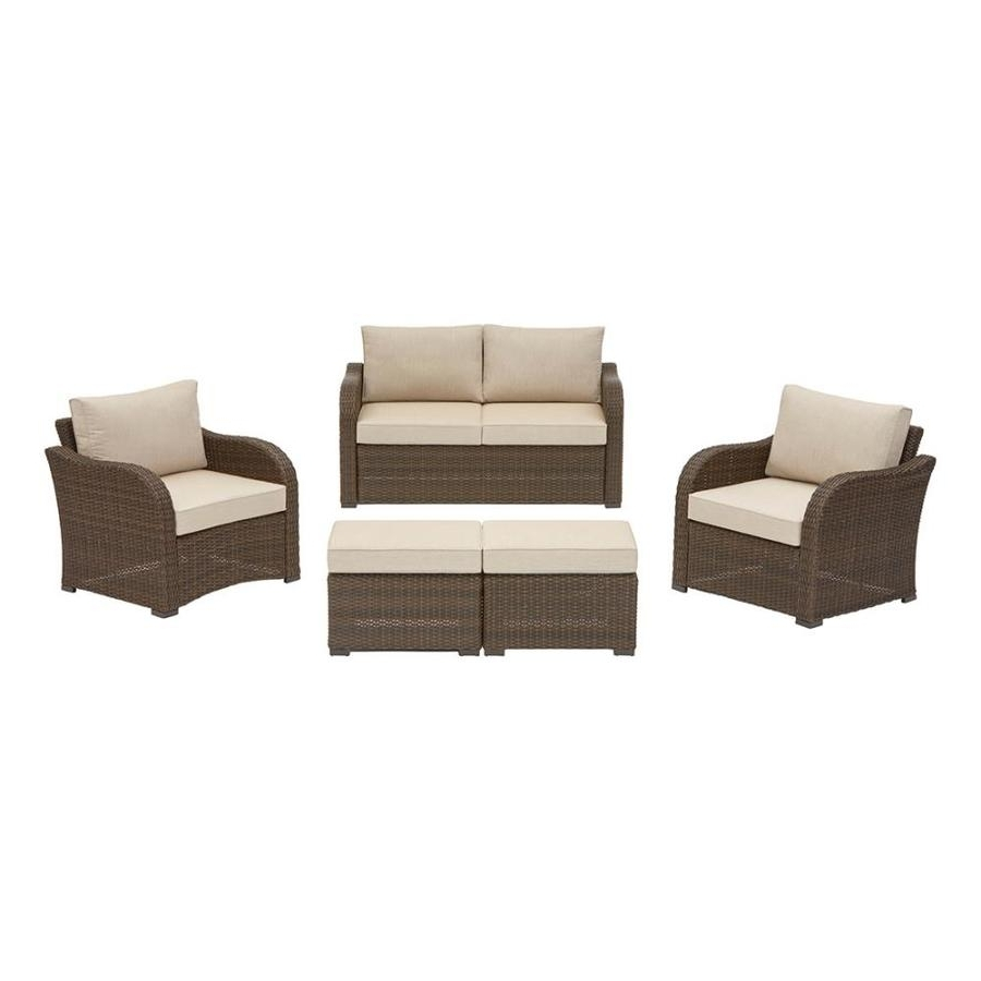 Favorite Shop Northborough 5 Piece Aluminum Frame Patio Conversation Set With Inside Patio Conversation Sets With Sunbrella Cushions (View 6 of 15)