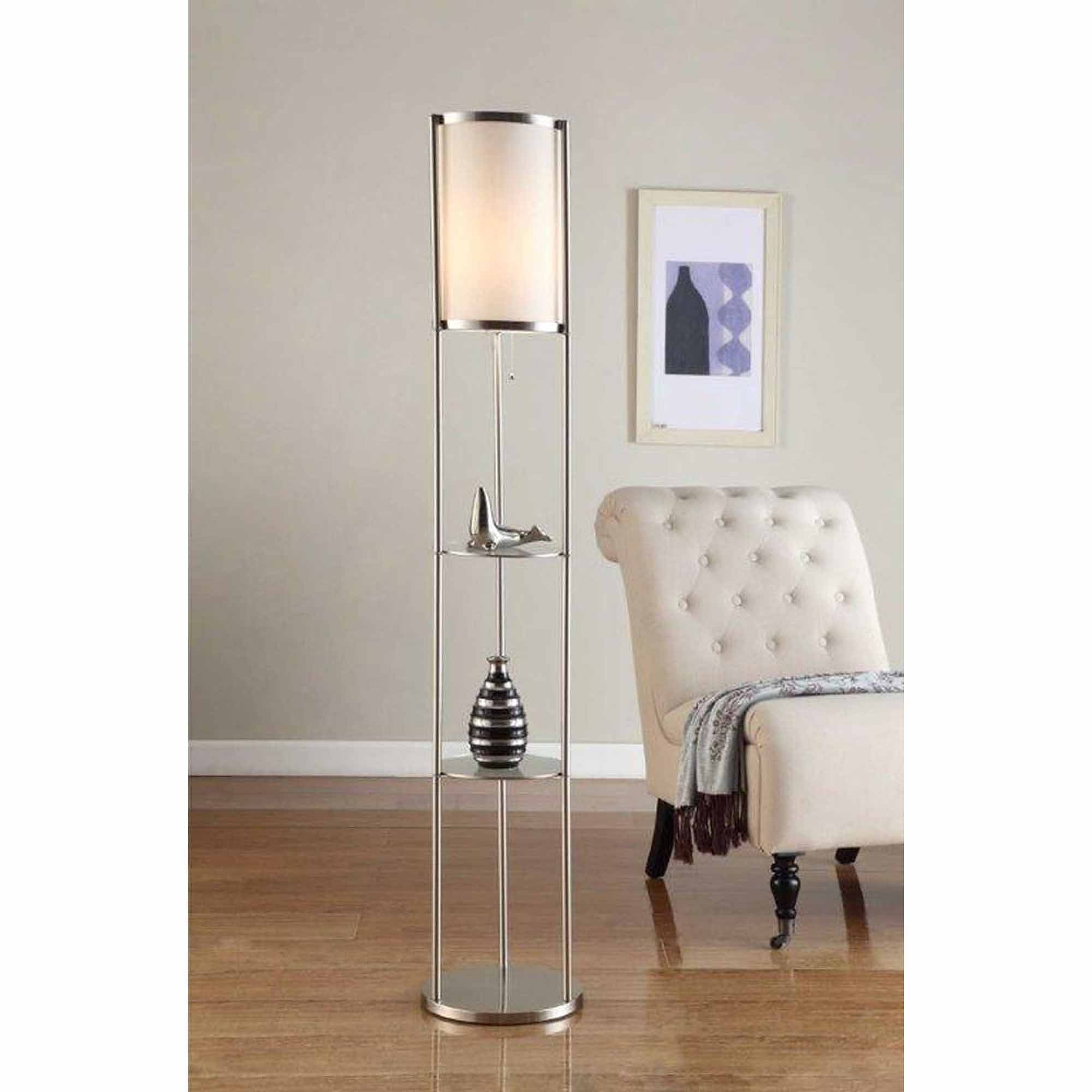 Favorite Walmart Living Room Table Lamps In Furniture : Light Mainstays Floor Lamp Silver Walmart With Standing (View 4 of 15)