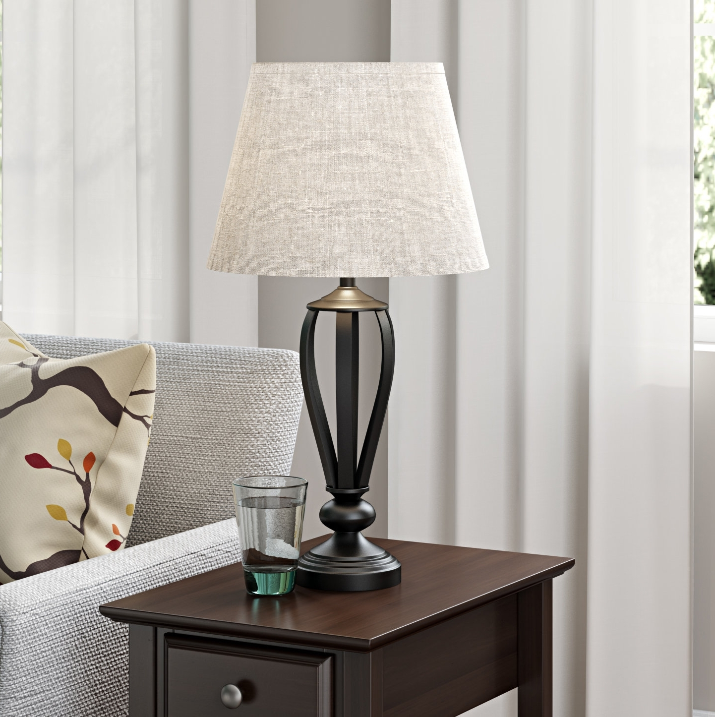 Favorite Wayfair Living Room Table Lamps With Three Posts Gainseville  (View 2 of 15)