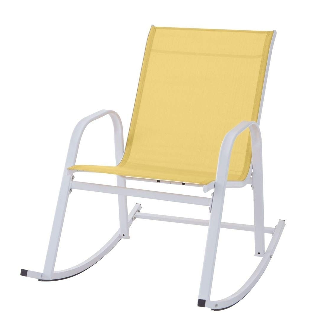 Favorite Yellow Outdoor Rocking Chairs For Amazon: Brylanehome Extra Wide Outdoor Rocker (Yellow,0): Home (View 3 of 15)