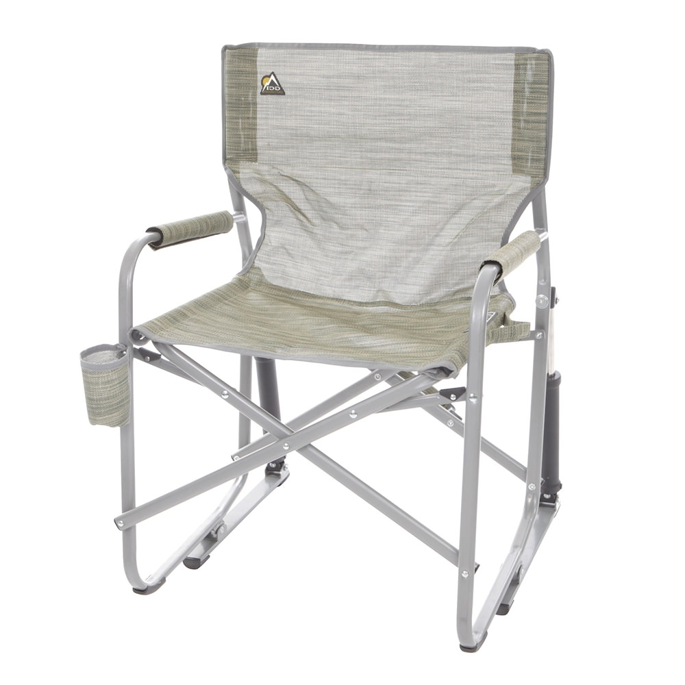 Folding Rocking Chairs Intended For Preferred Mesh Folding Rocker, Green – Gci Outdoor 37080 – Folding Chairs (View 5 of 15)