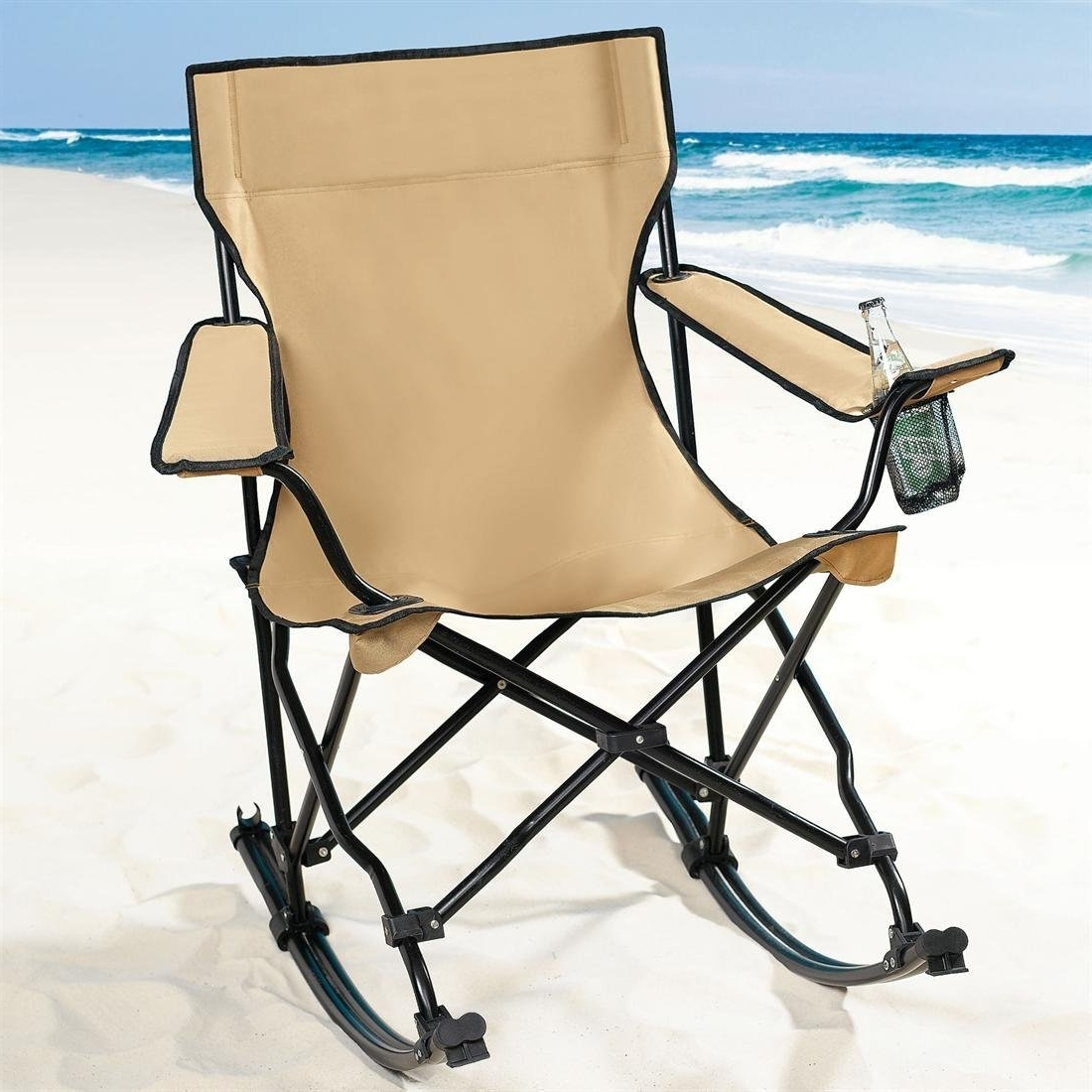 Folding Rocking Chairs With Trendy Folding Rocking Chair For Camping : Functional Folding Rocking Chair (View 9 of 15)