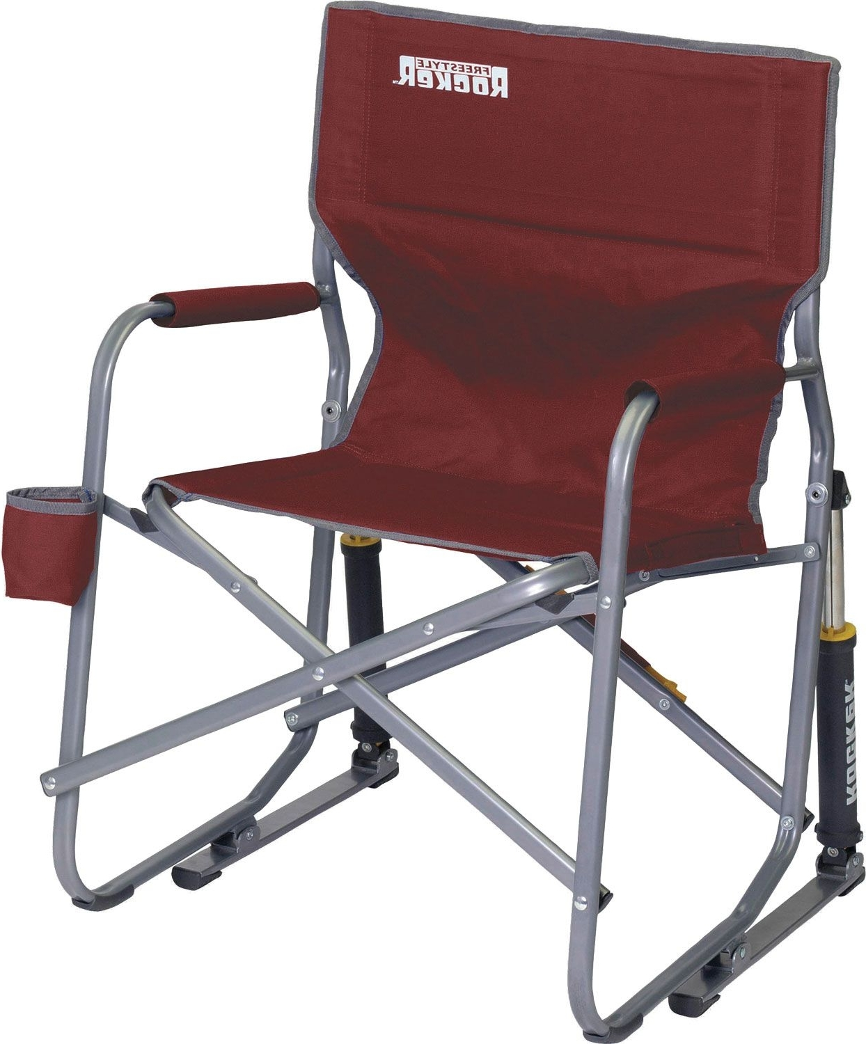 Folding Rocking Chairs Within Well Known Gci Outdoor Freestyle Rocker Chair Sporting Goods Cinnamon Folding (View 9 of 15)