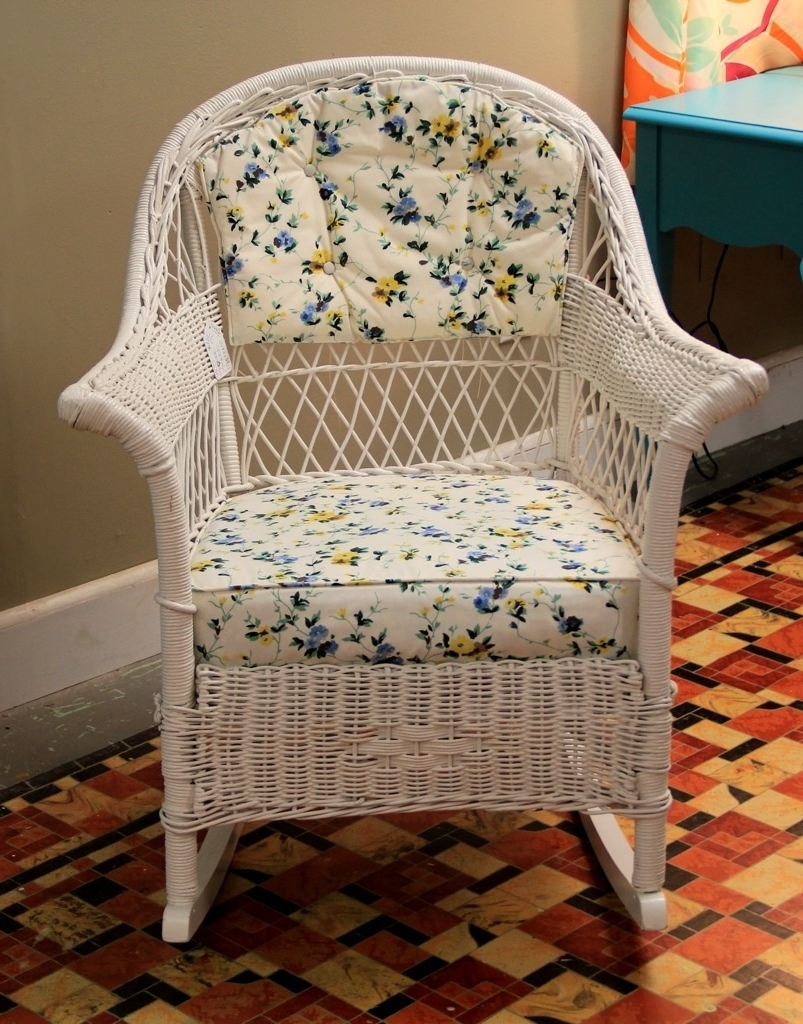Found In Ithaca Vintage Wicker Rocker Sold Antique Rocking Chair Throughout Fashionable Vintage Wicker Rocking Chairs (View 6 of 15)