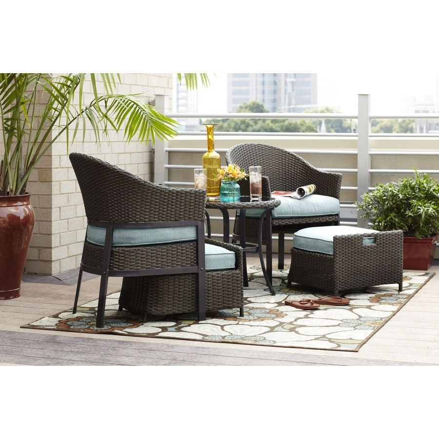 Front Porch Set $400/lowe's—Great Idea! But Re Create With Cheaper With Current Patio Conversation Sets Under $ (View 7 of 15)