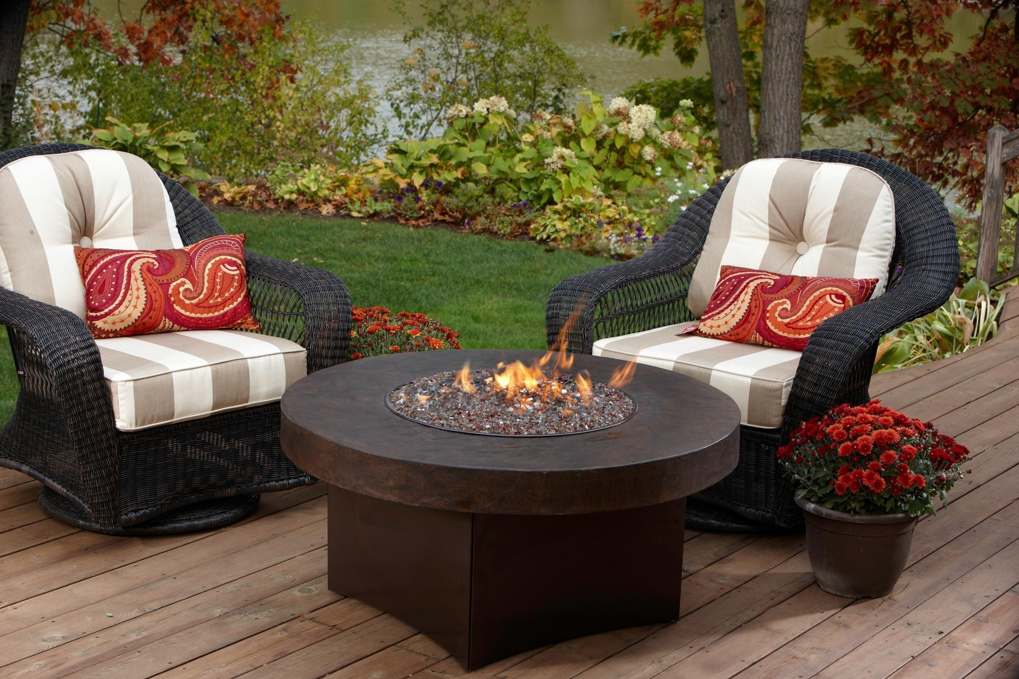 Fundamentals Patio Table With Gas Fire Pit Give The Warmth In Inside Famous Patio Conversation Sets With Propane Fire Pit (View 14 of 15)