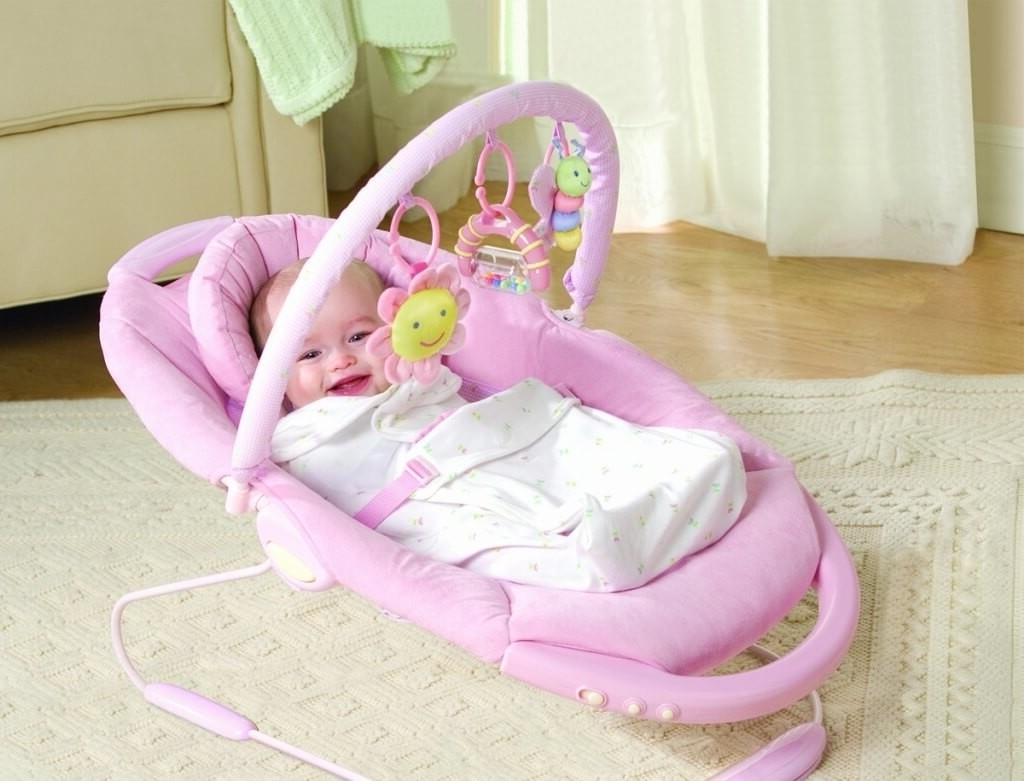 Furniture: Modern Electric Pink Baby Girls Rocking Chair – Cool Baby Pertaining To Most Up To Date Rocking Chairs For Babies (View 7 of 15)