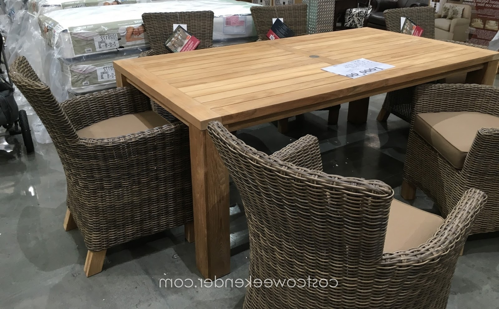 Furniture: Patio Furniture Clearance Costco With Wood And Metal Throughout Latest Costco Patio Conversation Sets (View 7 of 15)