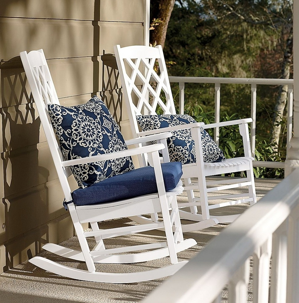 Garden & Patio Furniture : Patio Rocking Chairs With Cushions The with Current Patio Rocking Chairs With Cushions