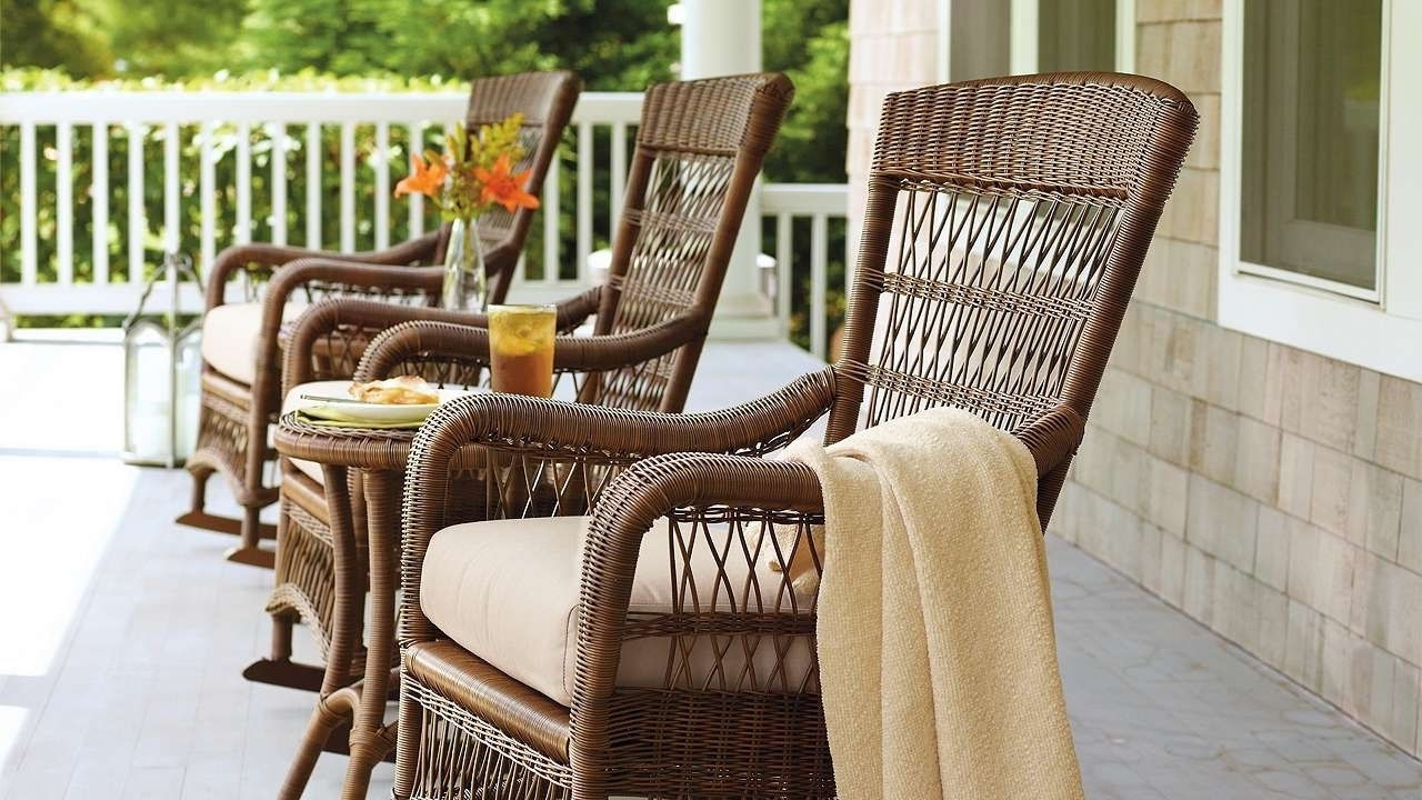 Good Outdoor Rocking Chairs With Cushions — Bistrodre Porch And regarding Most Up-to-Date Rocking Chairs For Outdoors