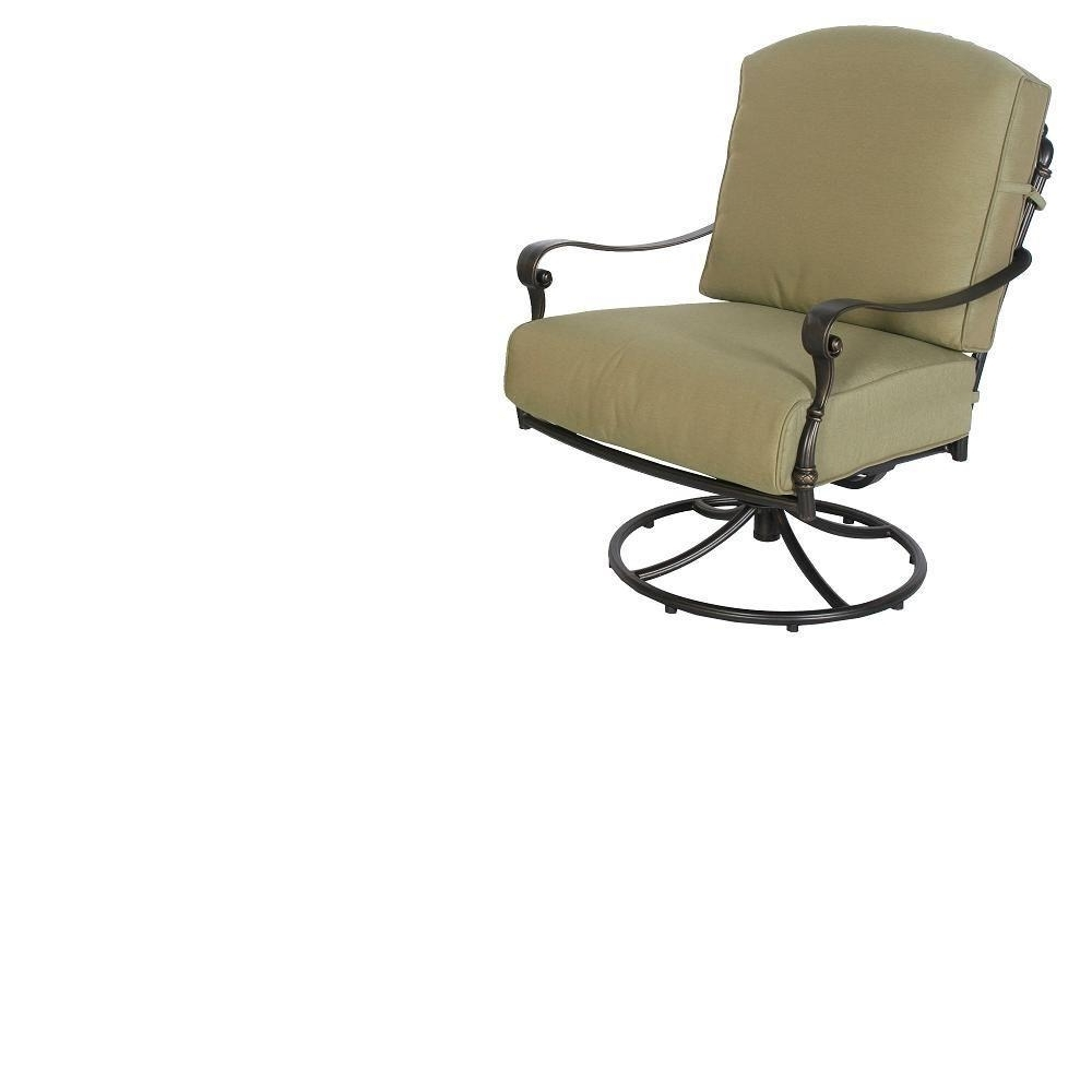 Hampton Bay 141 034 Srl1 Edington Swivel Rocker Patio Chair With Within Well Liked Hampton Bay Rocking Patio Chairs (View 2 of 15)