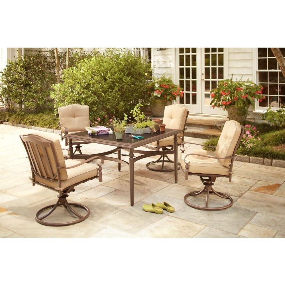 Hampton Bay Patio Conversation Sets Intended For Newest Livingroom : Hampton Bay Patio Furniture Chair Parts Outdoor Chairs (View 12 of 15)