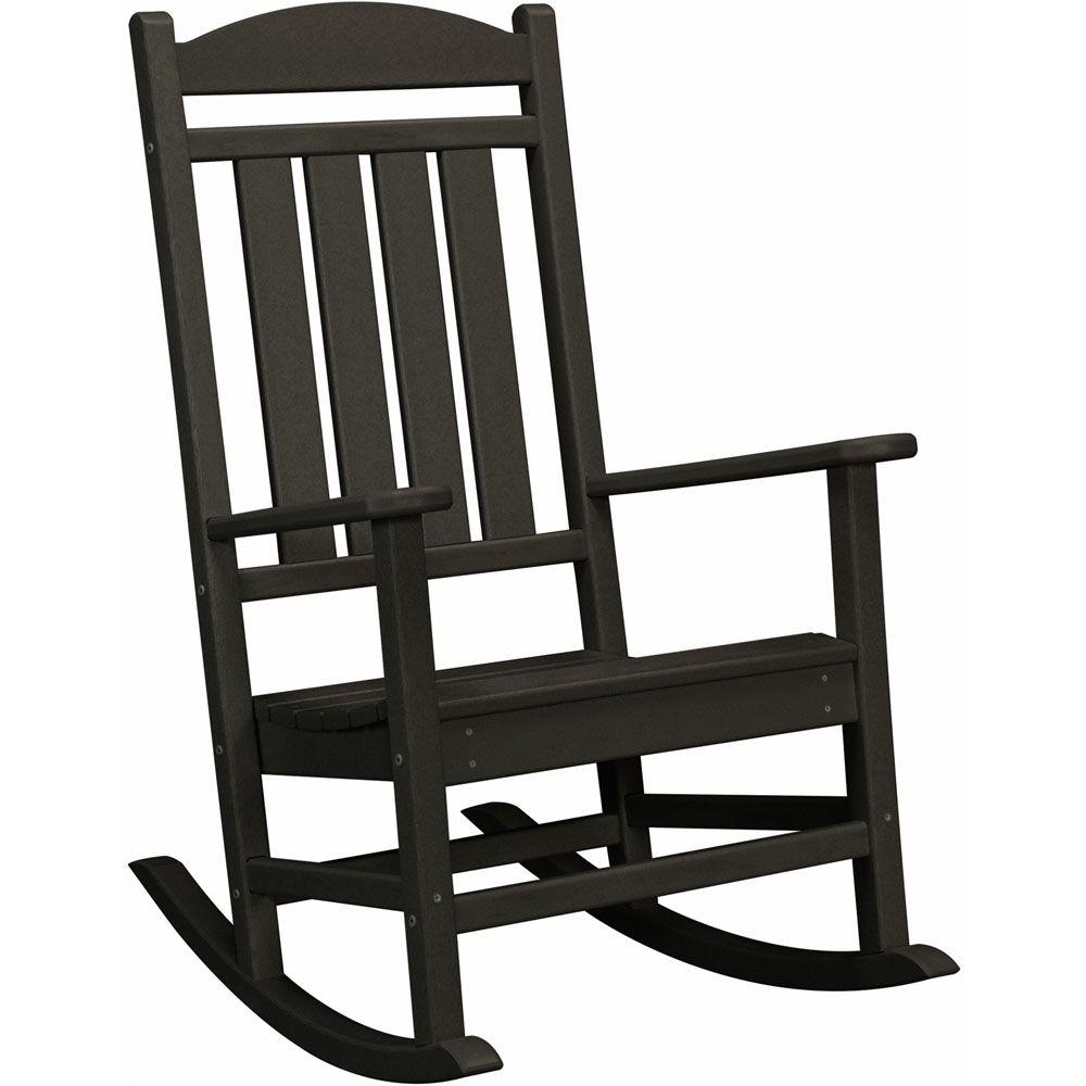 Hanover Black All Weather Pineapple Cay Patio Porch Rocker Hvr100Bl With Trendy Modern Patio Rocking Chairs (View 11 of 15)