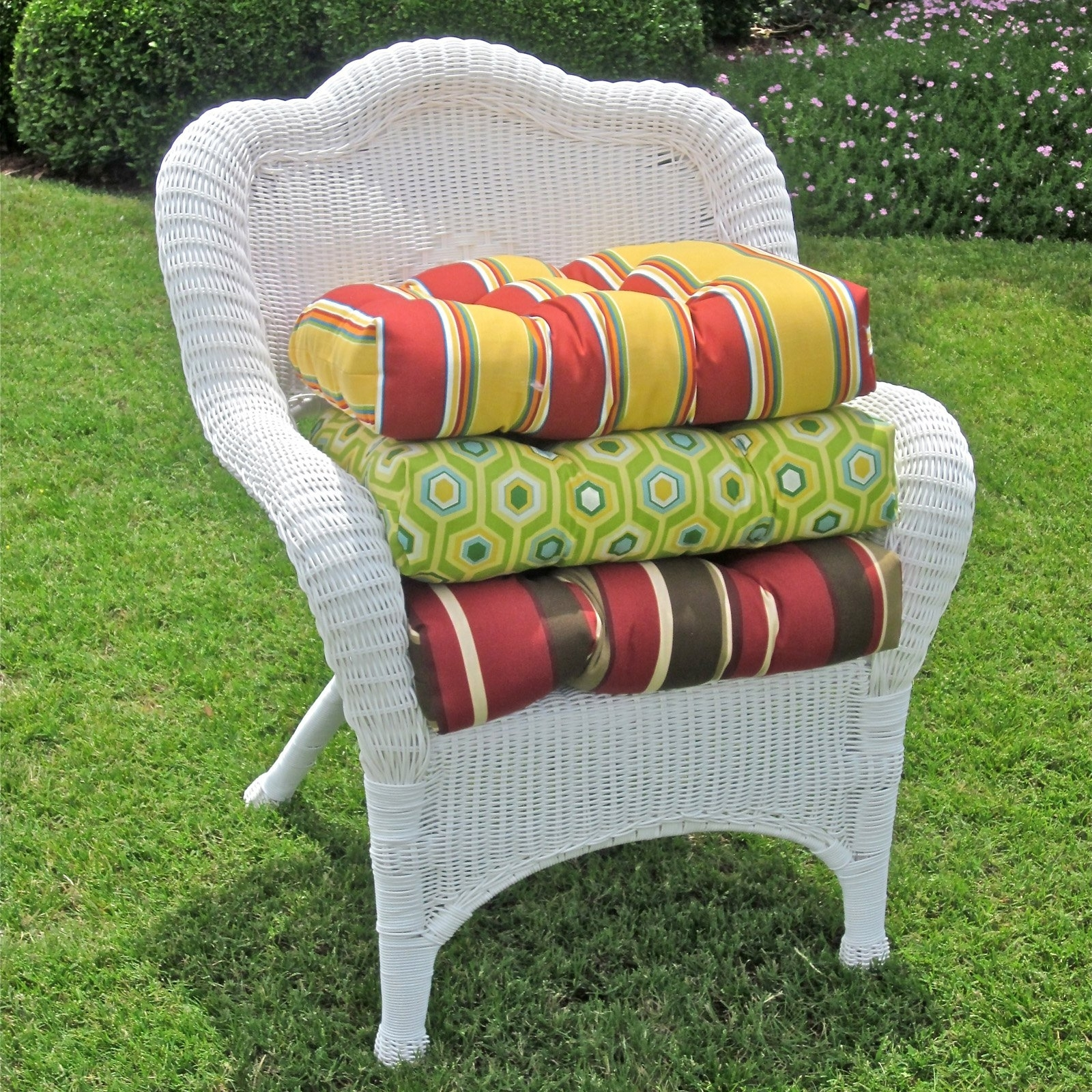 Hayneedle Regarding Outdoor Wicker Rocking Chairs With Cushions (View 6 of 15)
