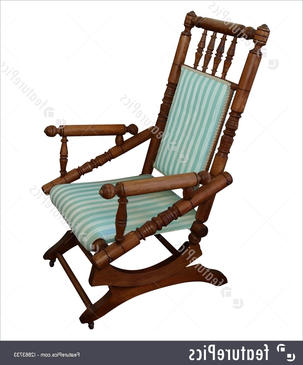 House Living: Antique Rocking Chair Isolated With Clipping Path Pertaining To 2017 Antique Rocking Chairs (View 2 of 15)