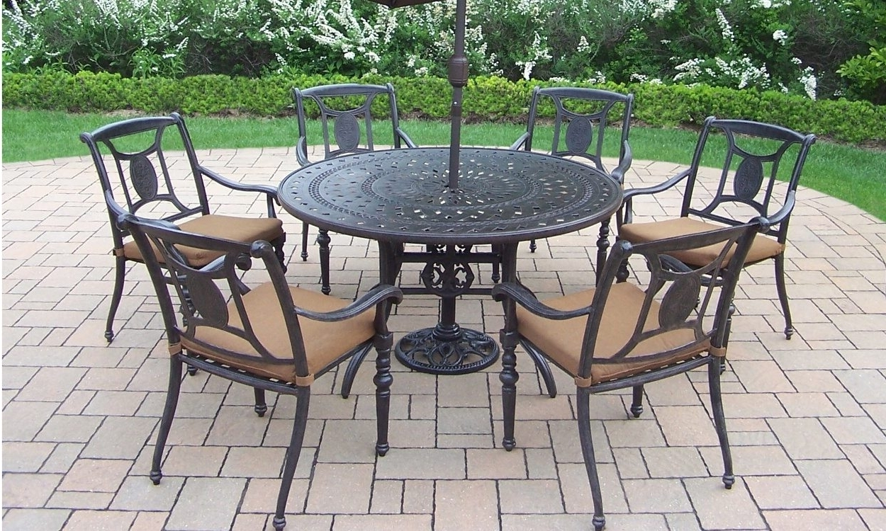 How To Clean Wrought Iron Patio Furniture – Overstock Pertaining To Most Popular Wrought Iron Patio Conversation Sets (View 7 of 15)