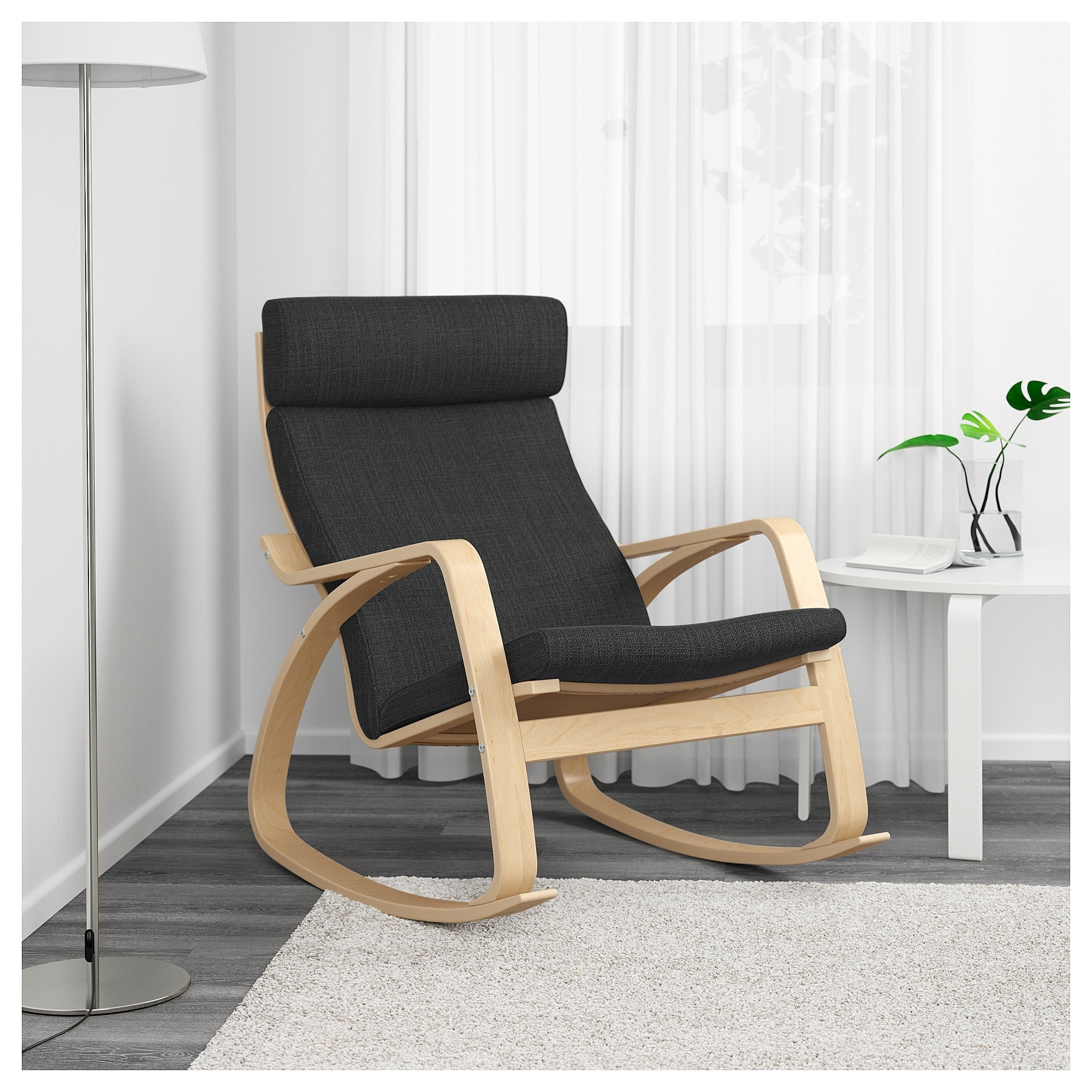 Ikea Rocking Chairs With Most Current Poäng Rocking Chair Birch Veneer/hillared Anthracite – Ikea (View 6 of 15)