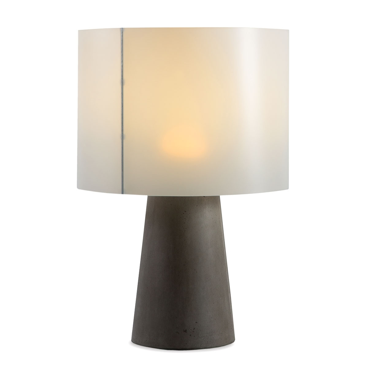 Inda Outdoor Cordless Concrete Table Lamp Dark Gray in Current Cordless Living Room Table Lamps