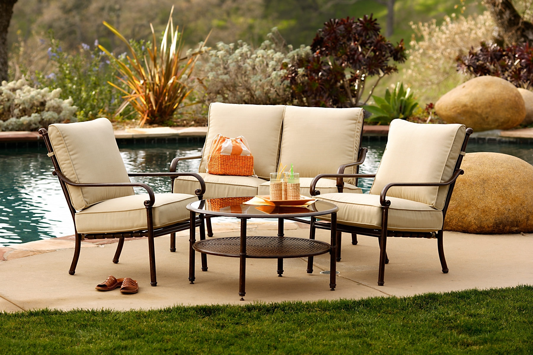 Inexpensive Patio Conversation Sets Intended For Widely Used Patio Cool Conversation Sets Patio Furniture Clearance Theydesign (View 9 of 15)