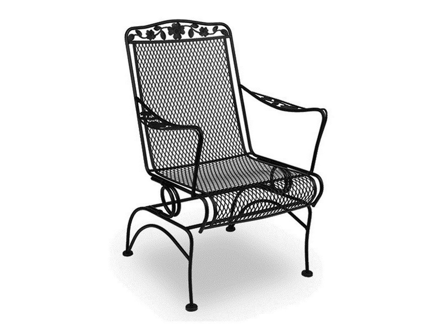 Iron Rocking Patio Chairs Regarding Preferred Wrought Iron Rocking Chair Patio Furniture Design Ideas – Arelisapril (Gallery 8 of 15)