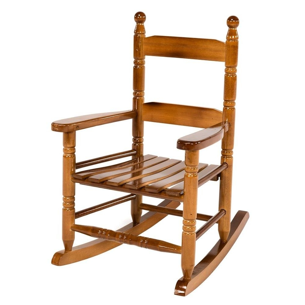 Jack Post Oak Children's Patio Rocker-08101784 - The Home Depot with Well-known Rocking Chairs For Toddlers