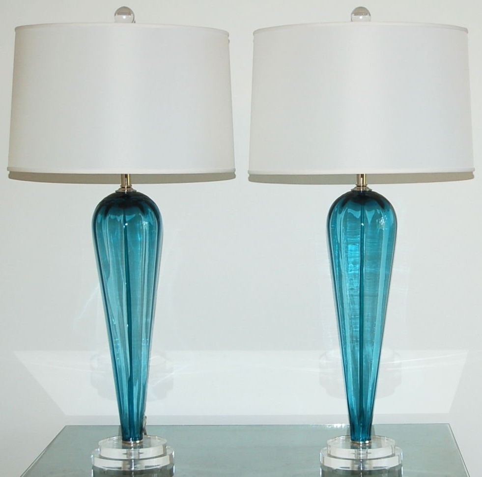 Lamp : Blue Table Lamps Lamp Shades Base Set Of For Living Room Inside Most Recent Teal Living Room Table Lamps (View 6 of 15)