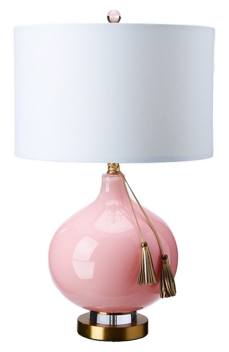 Lamp: Tl Pp Madison Light Pale Pink Table Lamp Hot Pink Desk Lamp Pertaining To Best And Newest Pink Table Lamps For Living Room (View 6 of 15)