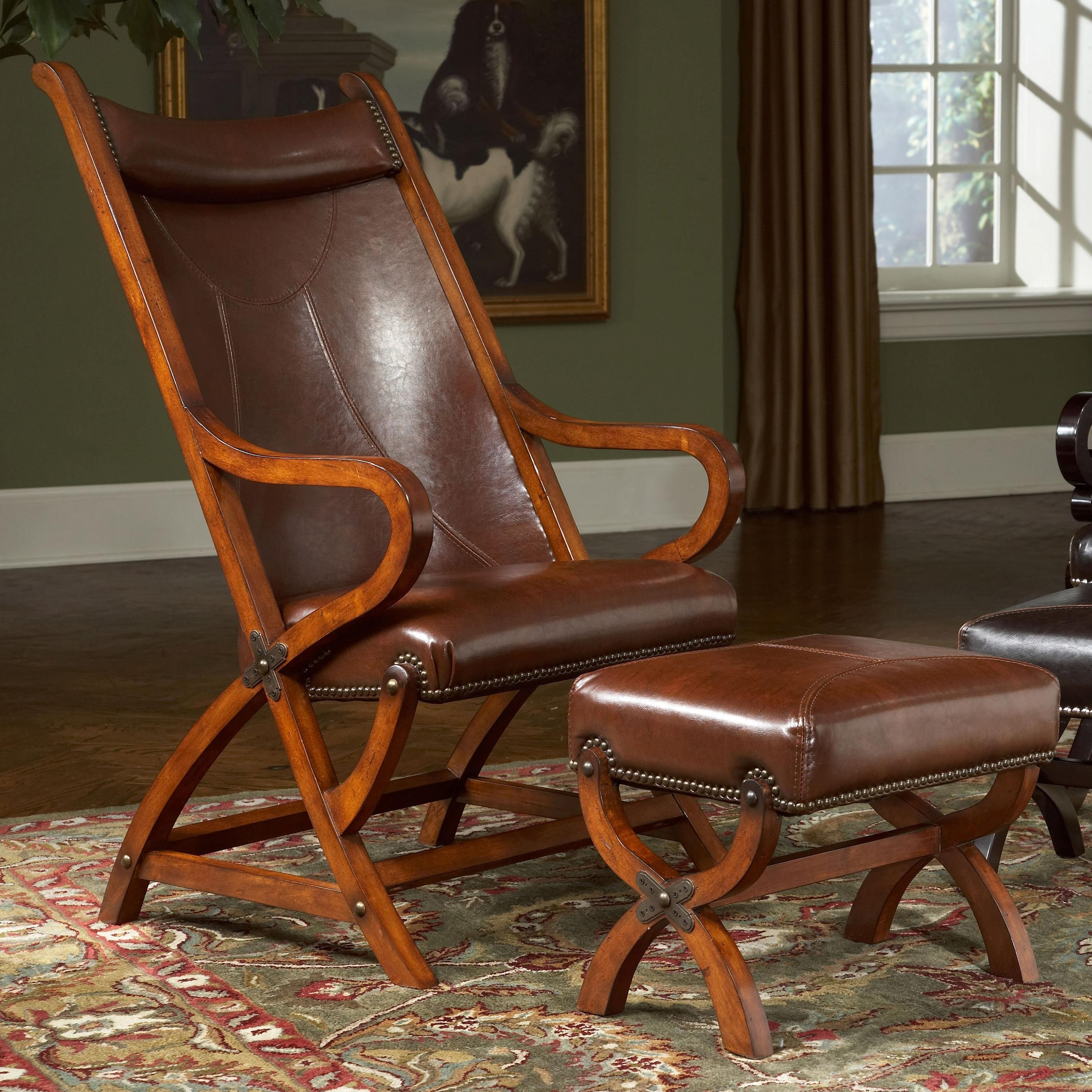 Largo Hunter Hunter Leather Chair And Ottoman (View 6 of 15)