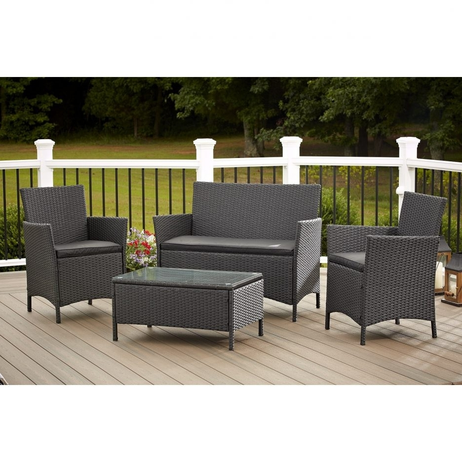 Latest Breathtaking Dark Grey Wickertio Kohls Outdoor Furniture With In Kohl's Patio Conversation Sets (View 11 of 15)