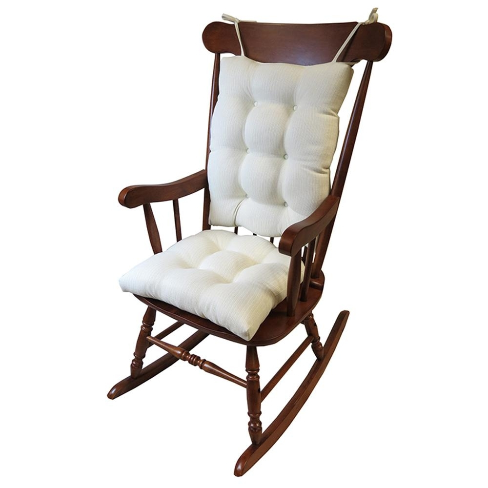 Latest Gripper Omega Ivory Jumbo Rocking Chair Cushion Set-849307Xl-20 for Xl Rocking Chairs