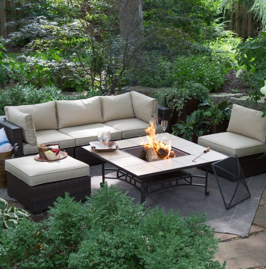 Latest Patio Conversation Sets With Fire Pit Throughout Instructive Fire Pit Set Clearance Outdoor Sam S Club Propane Table (View 10 of 15)