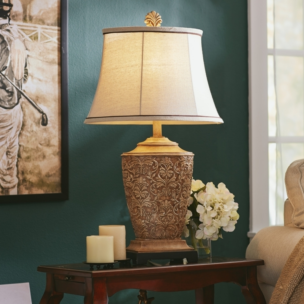 Latest Table Lamps For Living Room Uk Intended For 47 Table Lamp Sets Living Room, Table Floor Lamp Set Vintage Bronze (View 2 of 15)