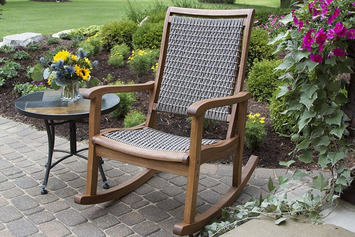 Latest The Best Styles Of Outdoor Rocking Chairs (Styles, Designs, Options Pertaining To Brown Wicker Patio Rocking Chairs (View 6 of 15)