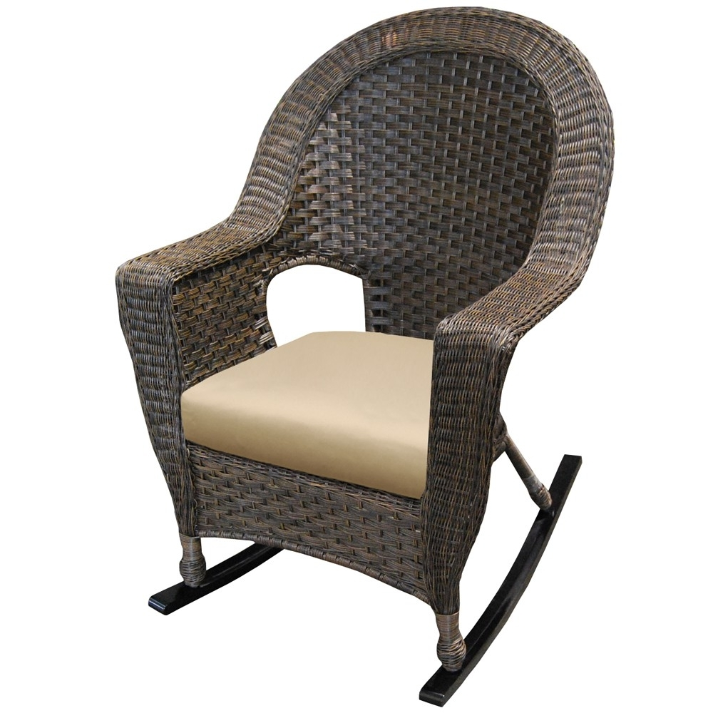 Latest Wicker Rocking Chair With Magazine Holder for How To Decorate Wicker Rocking Chair — Prop Home Decors