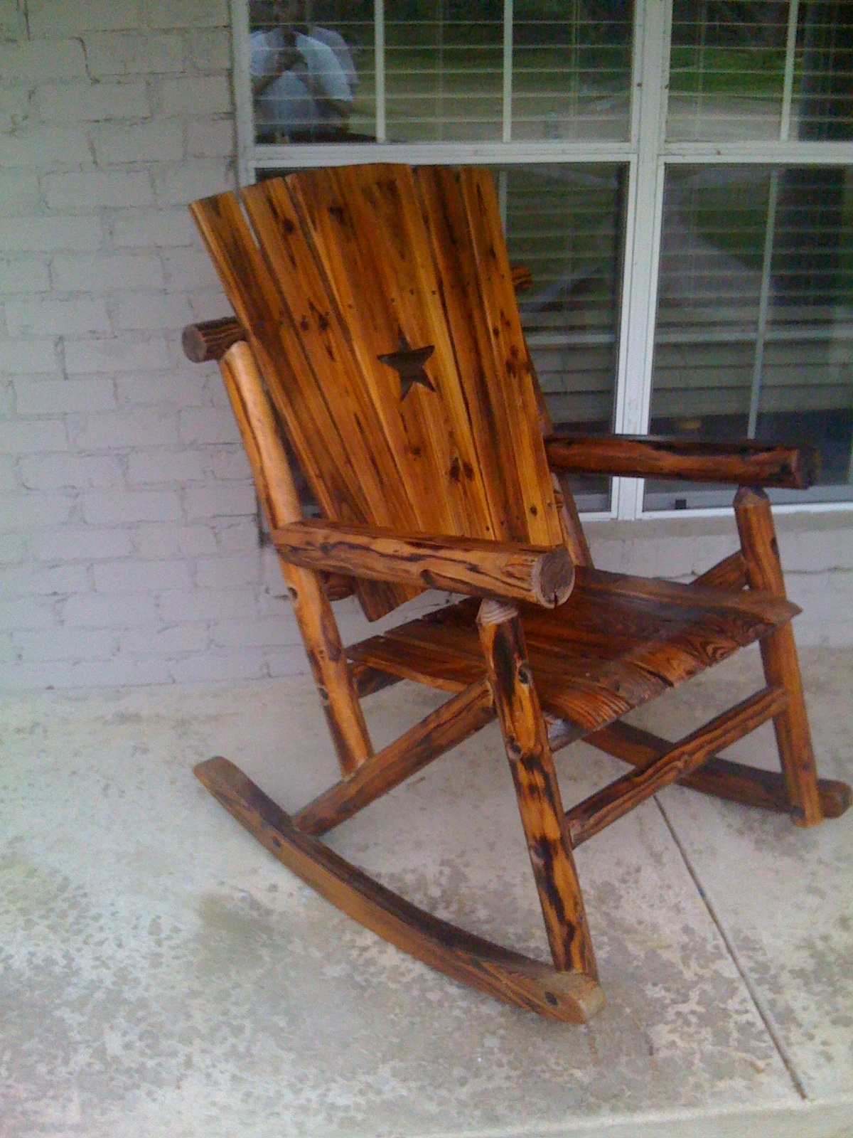 Latest Wooden Patio Rocking Chairs Regarding Outdoor Wooden Rocking Chairs Rustic : Pleasure Outdoor Wooden (View 5 of 15)