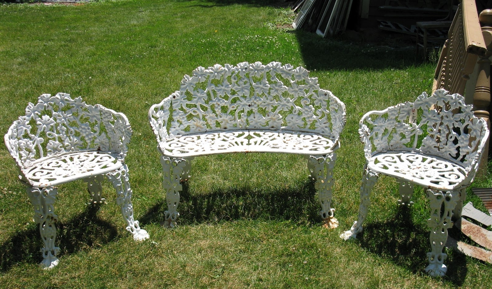 Latest Wrought Iron Patio Conversation Sets Intended For White Iron Outdoor Furniture With Regard To Popular Residence (View 8 of 15)