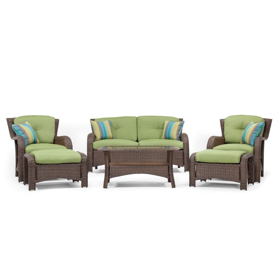 Lazy Boy Patio Conversation Sets Regarding Most Recently Released Shop La Z Boy Outdoor Sawyer 6 Piece Steel Frame Patio Conversation (View 7 of 15)