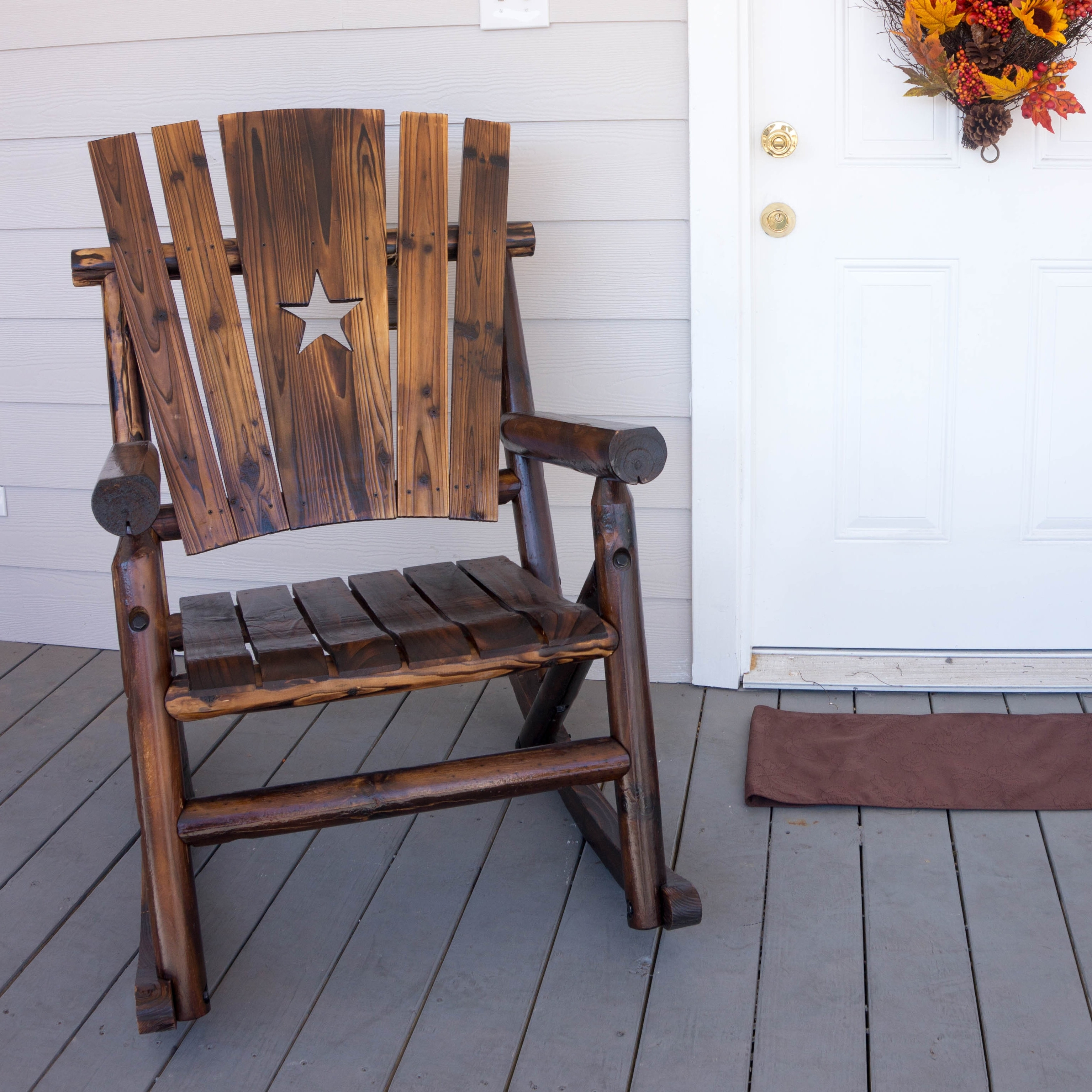 Leighcountry Char Log Star Single Rocking Chair & Reviews (View 11 of 15)
