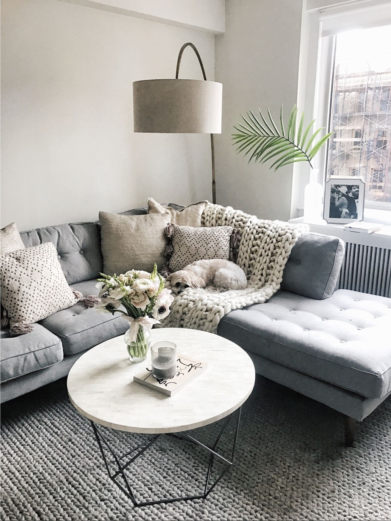 Living Room Coffee Table Lamps For Most Recent Love This West Elm Lamp/round Coffee Table) @liketoknow (View 6 of 15)