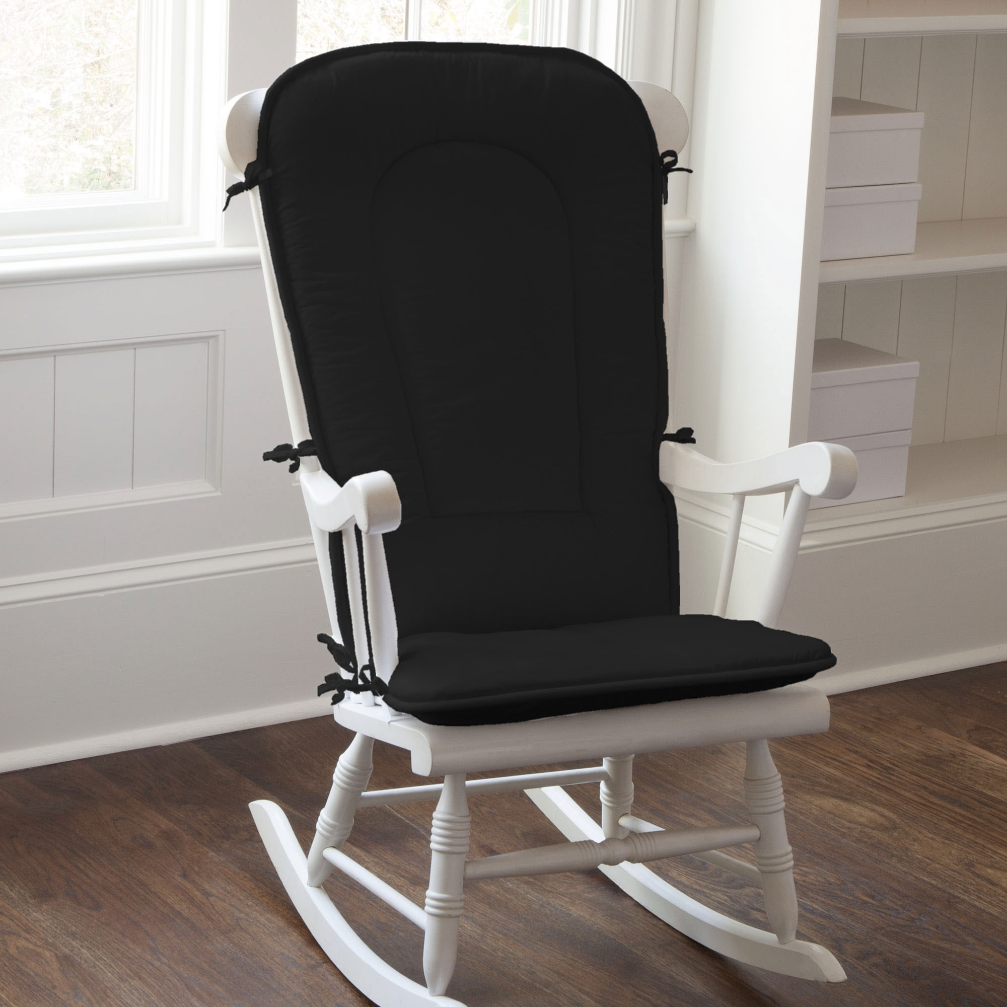 Living Room Furniture : Black Rocking Chair For Nursery Wooden With Regard To Most Recent Rocking Chairs With Cushions (View 5 of 15)