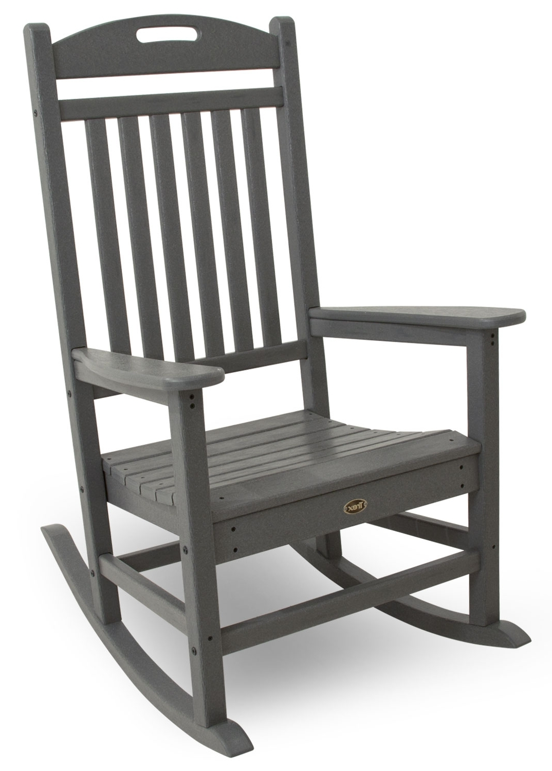 Livingroom : Shop Adams Mfg Corp Stackable Resin Rocking Chair At Pertaining To Most Recently Released Stackable Patio Rocking Chairs (View 2 of 15)