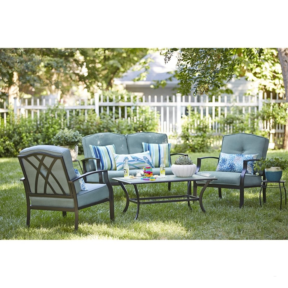 Lowes Outdoor Patio Furniture Awesome Garden Treasures Cascade Creek Intended For Best And Newest Lowes Patio Furniture Conversation Sets (View 4 of 15)