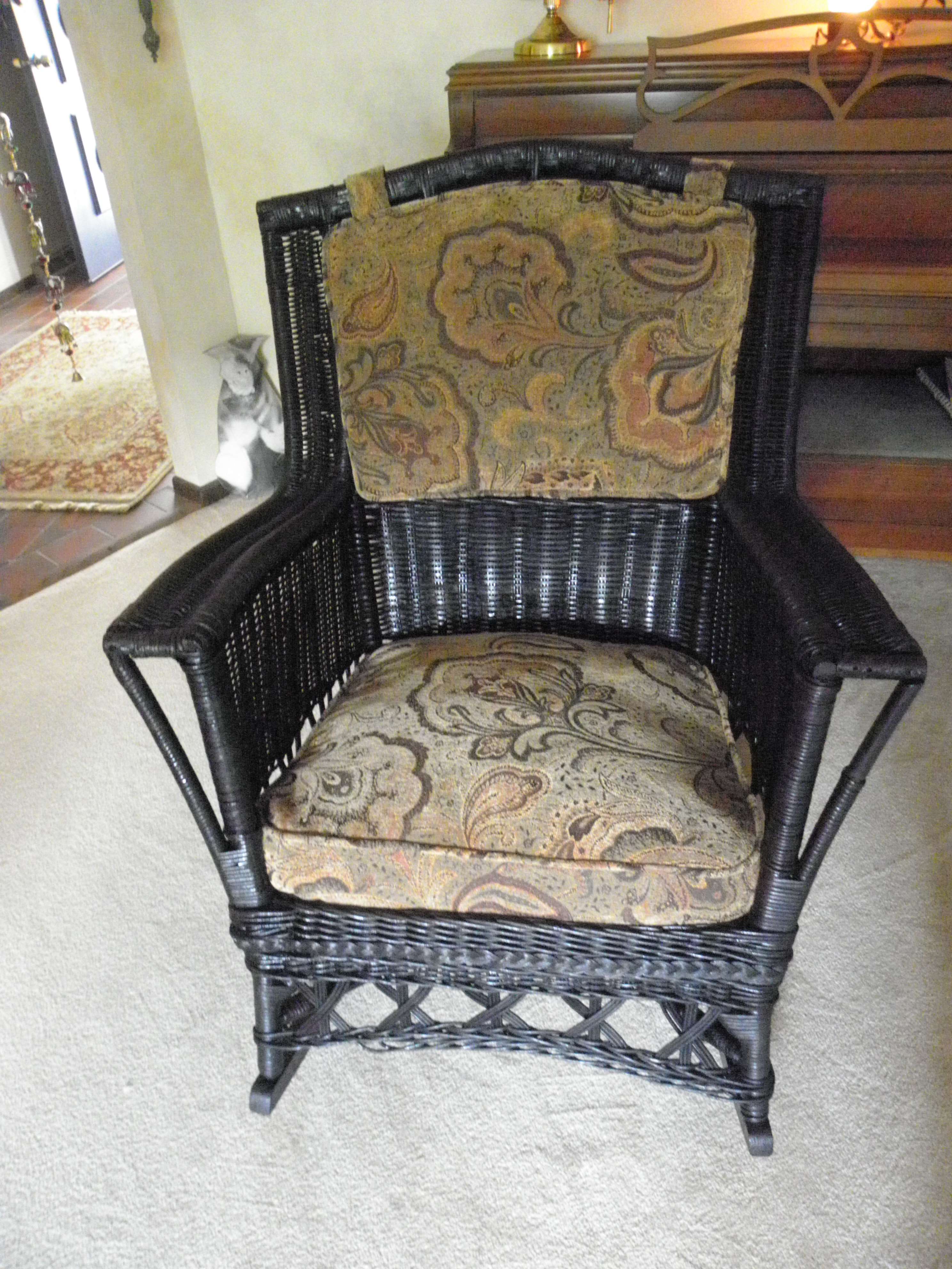 Luxury Vintage Wicker Rocking Chair In Home Remodel Ideas With Inside Most Up To Date Vintage Wicker Rocking Chairs (View 3 of 15)
