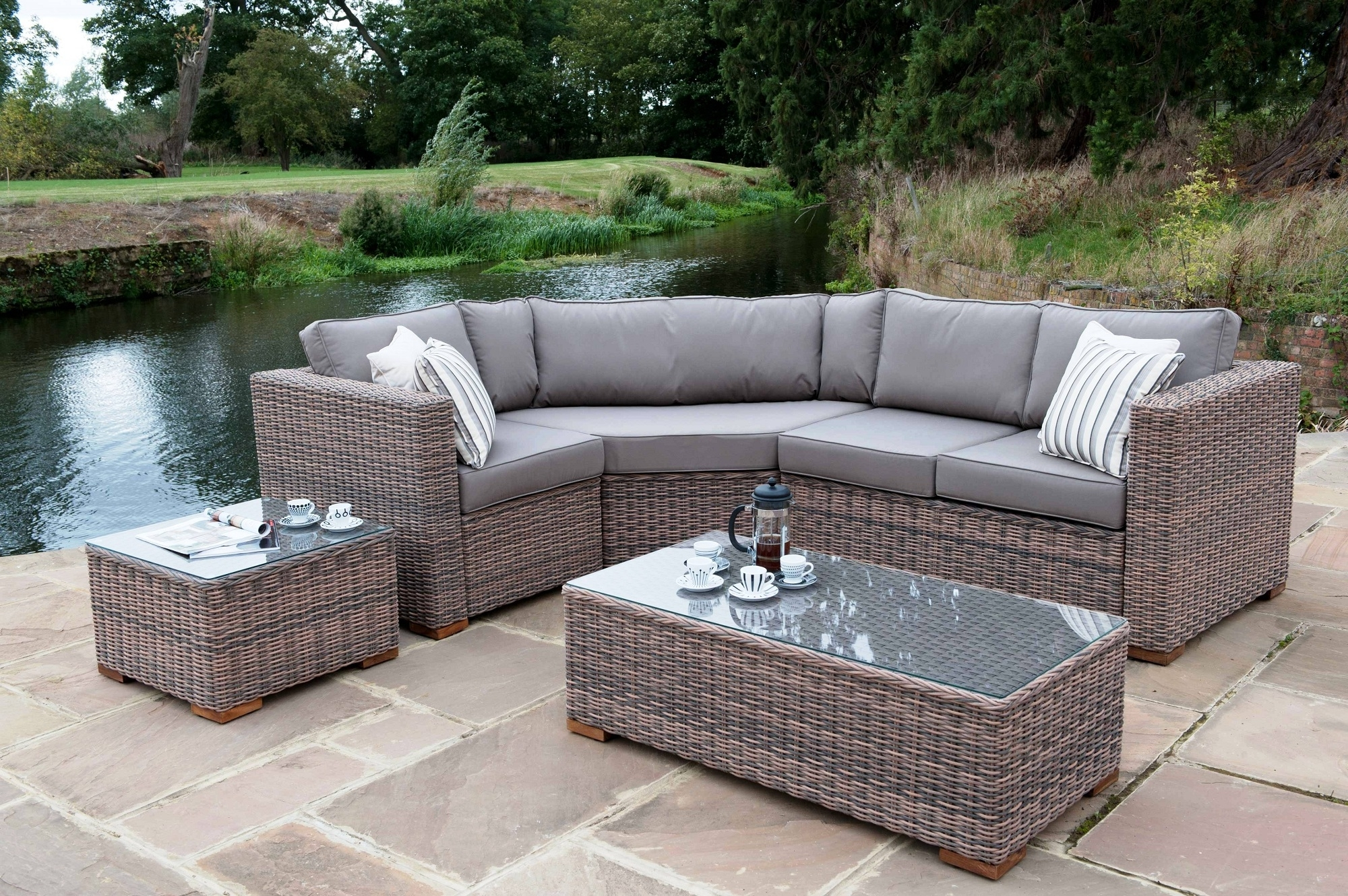 Luxury Wicker Patio Furniture : Sathoud Decors – Repaint Wicker For Latest Nfm Patio Conversation Sets (View 9 of 15)