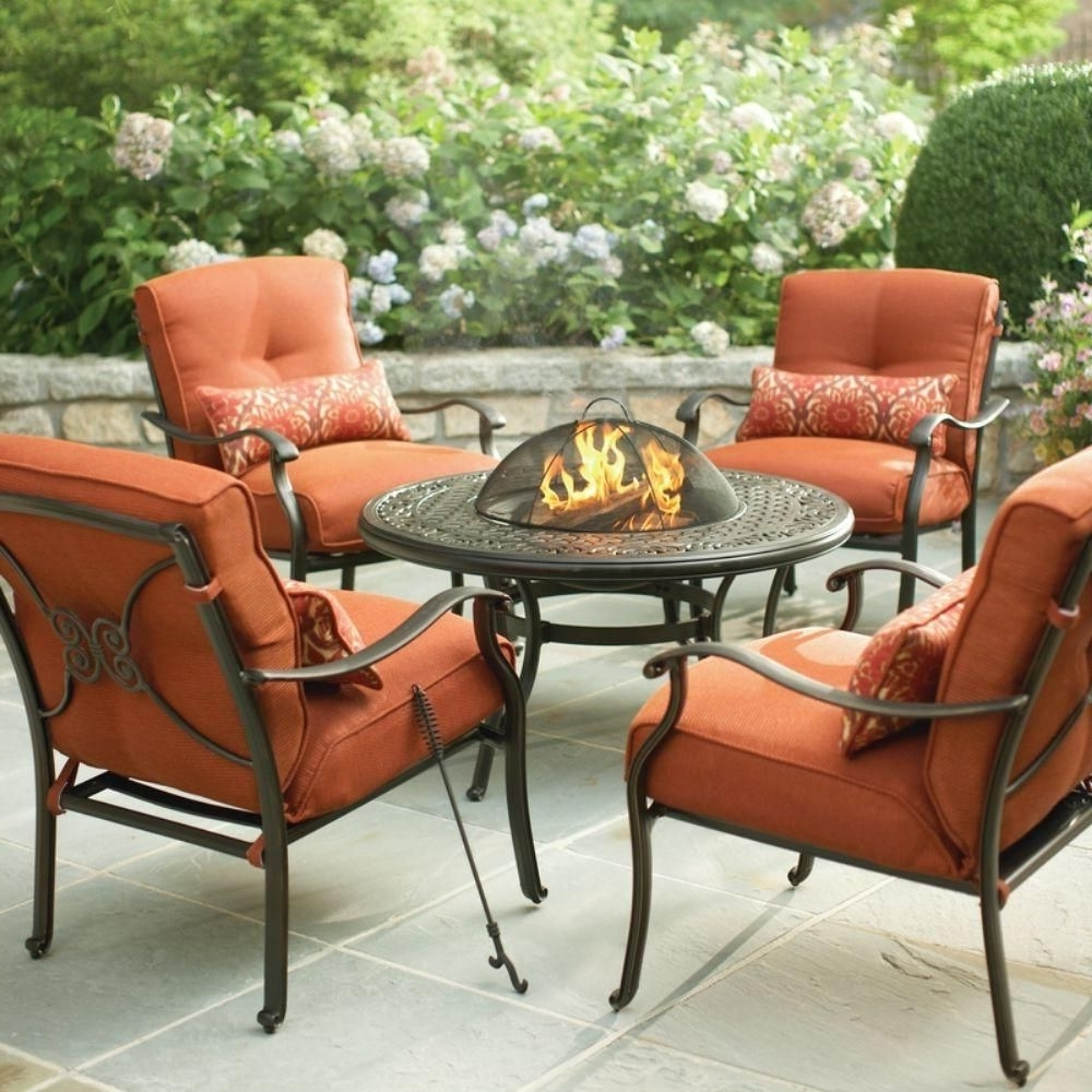 Martha Stewart Conversation Patio Sets Regarding Most Recently Released Martha Stewart Living Cold Spring 5 Piece Patio Fire Pit Set With (View 3 of 15)